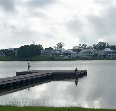 Fishing on Lake Cameron at The Waters