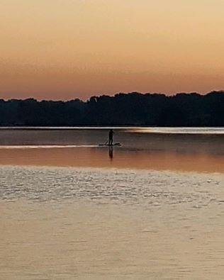 Paddle boarding on Lake Cameron