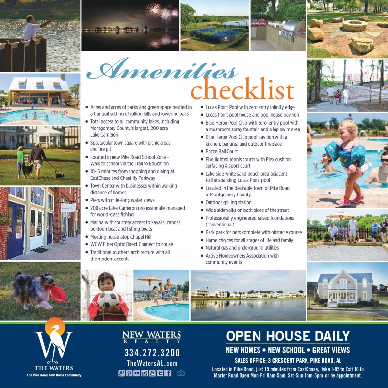 Amenities at The Waters