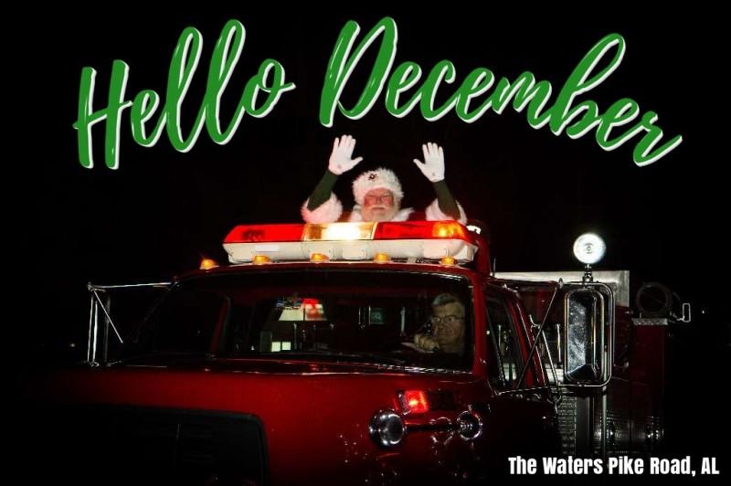 Santa visits the waters