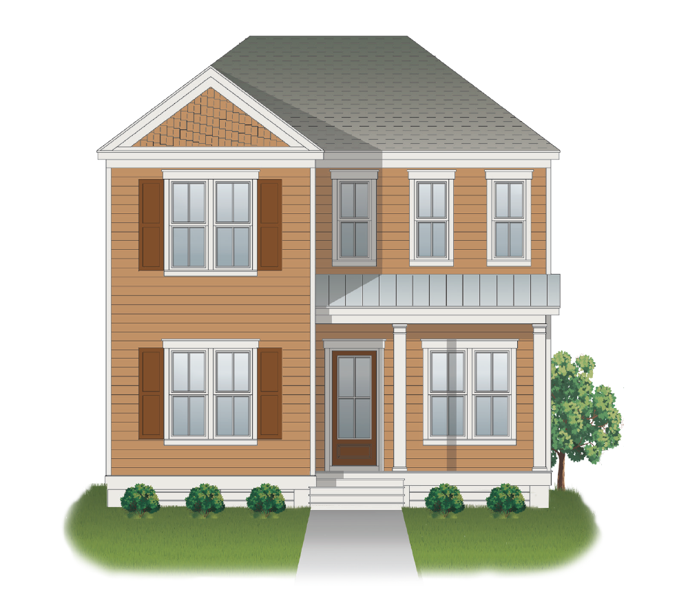 The Rosemary A | Exterior Elevation